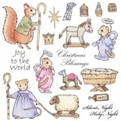 Christmas Blessings Winter Tales Stamp Set Cute Companions