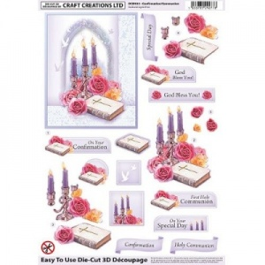 Confirmation/Communion Die-Cut Decoupage Sheet DCD533