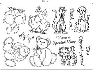 Cute - Unmounted Rubber Stamps