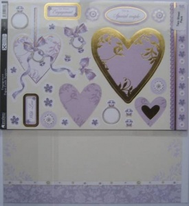 Engagement Decoupage Paper Craft Toppers & Card Kanban PCT1360