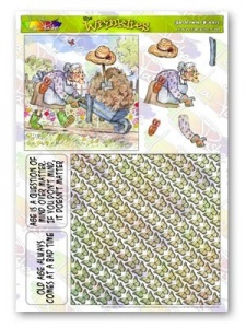 Gardening Granny The Wrinklies Decoupage Plus