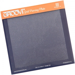 Groovi Grid Piercing Plate Straight Clarity Stamps