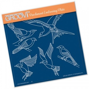 Groovi Plate Feathered Friends