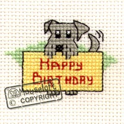 Happy Birthday Dog Stitchlets Special Occasions Card and Envelope Kit 014-445stl