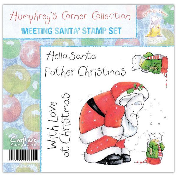 Meeting Santa Humphrey S Corner Christmas Stamp Set