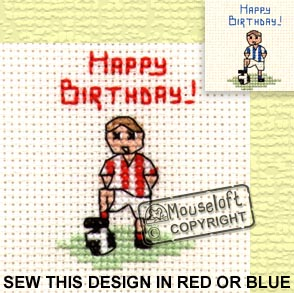 Little Footballer Stitchlets Special Occasions Card and Envelope Kit 014-446stl