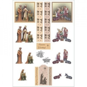 Nativity Decoupage Sheet Line 951