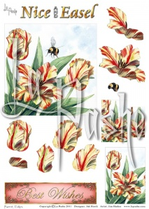 Parrot Tulips Nice and Easel Set 2 Sheet