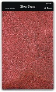 Red/Black/Silver Glitter Sheets Pad   ACO123R