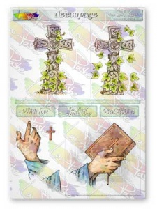 The Holy Spirit Decoupage Sheet La Pashe Value Collection