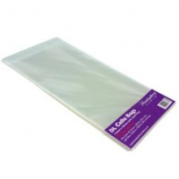 DL Clear Cello Bags for Card and Envelope - Self Seal Pack 50