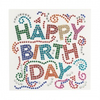 Happy Birth Day Crystal Card Kit