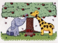 Apple Picking Peanut and Friends Counted Cross Stitch Kit Little Star Stitches PM003