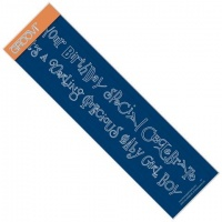 Birthday & Darling Word Chains Groovi Border Plate