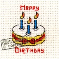Birthday Cake Stitchlets Cross Stitch Kit 014-444stl