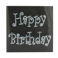 Birthday Wishes Crystal Card Kit (Black)