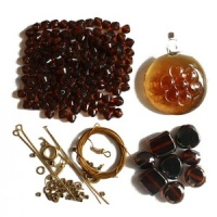 Brown Round Pendant Jewellery Kit Beaders Companion THH-232