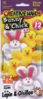 Bunny & Chick Kit - Makes 6 of Each - Creative Hands 6371