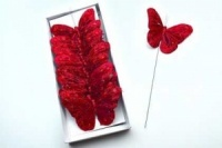 Butterflies Red 10cm Wide Pack of 12