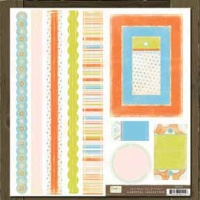 Carnival Collection Bands Tags & Frames Crate Paper CA135