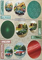 Cars - 3D Toppers & Borders Die Cut Sheet - Dufex