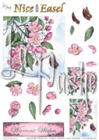 Cherry Blossom Nice and Easel Set 2 Sheet