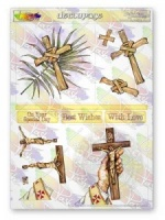 Christian Crosses Decoupage Sheet La Pashe Value Collection