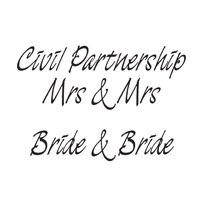 Civil Partnership Marriage Stamps Mrs & Mrs