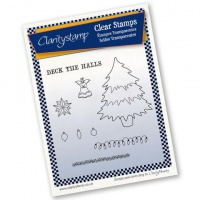 Claritystamp Christmas Tree & Decorations Stamp Set & Mask A5