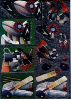 Cricket, Football & Rugby - 3D Die Cut Decoupage Sheet - Dufex