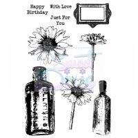 Daisy and Bottles Clear Stamp Set A6 Sweet Dixie SDCSA6036