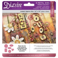 Die'sire Mixed Media Dies Ribbon Buckles