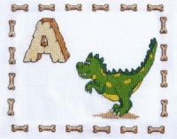 Dinosaurs Alphabet Sampler Little Star Stitches DNG03