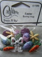 Easter Bunny Hop Dress It Up Buttons Craftime JJ-1299