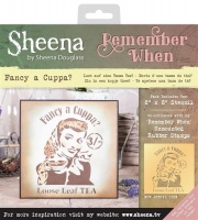 Fancy A Cuppa Stencil Remember When Collection