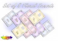 Floral Inserts For A5 Cards 8 pack
