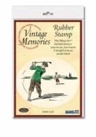 Golf Vintage Memories Kling-On Backed Stamp
