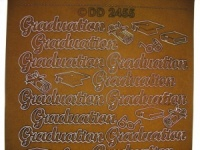 Graduation Peel off Sticker Gold