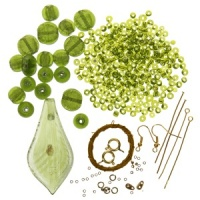 Green Drop Pendant Kit from Beaders Companion THH-235