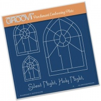 Groovi Christmas Candle Window Plate