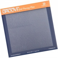 Groovi Grid Piercing Plate Diagonal Clarity Stamps