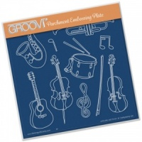 Groovi Plate A5 Musical Instruments Clarity Stamps GRO-MU-40174-03