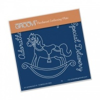 Groovi Rocking Horse Baby Plate A6 - GRO-CN-40288-01