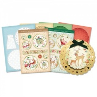 Heartfelt Scalloped Card Kit Love Christmas Collection Hunkydory LOVEC05