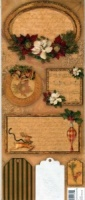Holiday Traditions Enbossed Journal Tags K & Co 551824