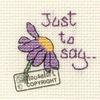 Just To Say Stitchlets Cross Stitch Card Kit 014-545stl