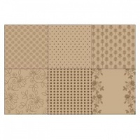 Kraft Fusion Paper Pack 8'' x 8'' 12 sheets
