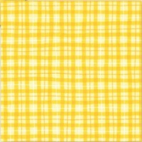 Lemon Drop Plaid Scrapbook Paper Doodlebug 233