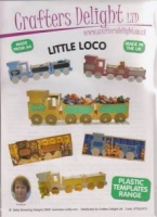 Little Loco - Plastic Template - Crafters Delight
