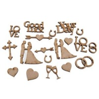 MDF Wedding Accessory Pack of 20 CEMDFWEDACC